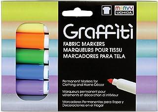 مجموعة أقلام تحديد قماشية جرافيتي 6 قطع من Uchida Pastel