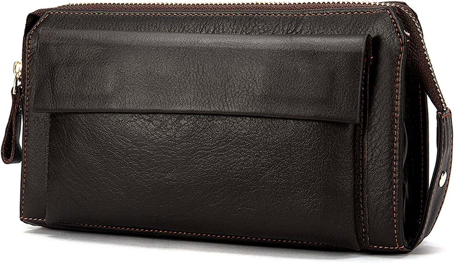 Lingwu Sales results Atlanta Mall No. 1 Large Functional Mens Genuine Zipper Wallet Leather Credi