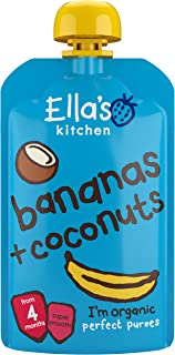 Ella's Kitchen Organic Puree, Bananas And Coconut, 120g (Pack of 1)
