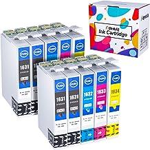 Hehua 16XL Compatible Cartuchos de Tinta para Epson 16 16XL Reemplazo para Epson Workparace WF-2630 WF-2750 WF-2530 WF-2510 WF-2520 WF-2650 WF-2010 WF-2660 Impresora(4Negro,2Cian,2Magenta,2Amarillo)