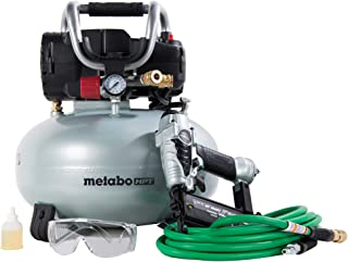 Metabo HPT Air Compressor Combo Kit, Includes Brad Nailer, Pancake Compressor, and 25 Ft Air Hose (KNT50AB)