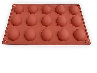 UG LAND INDIA 15 Cavity Semi Sphere Half Round Dome Silicone Mold Chocolate Teacake Baking Tray