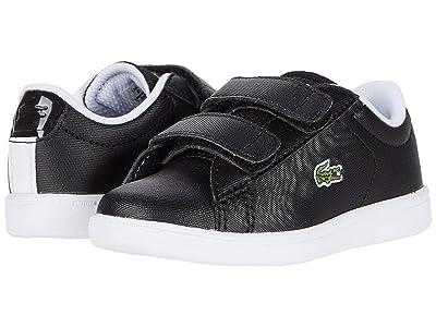 Lacoste Kids Carnaby Evo Strap 120 1 SUI (Toddler/Little Kid) (Black/White) Kid
