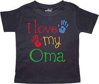 I Love My Oma Grandchild Gift Toddler T-Shirt