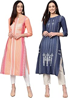 Vaamsi Crepe Digital Printed Kurti(COPK1010_Multi-Coloured_Free Size)