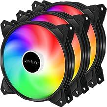 upHere 120mm 3pin LED Rainbow Ventilador para Ordenador -Ventilador de Caja PC Silencioso 3 Pack (PF120CF3-3)