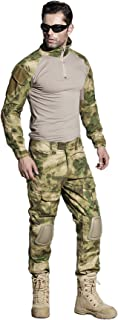 Best SINAIRSOFT US Army Uniform Shirt Pants with Knee Pads Tactical Combat Airsoft Hunting Apparel Camo BDU Review
