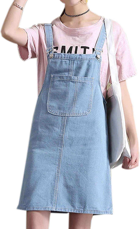 Womens Cotton Linen Bib Dungaree Sleeveless Mini Dress Pinafore Loose Suspender