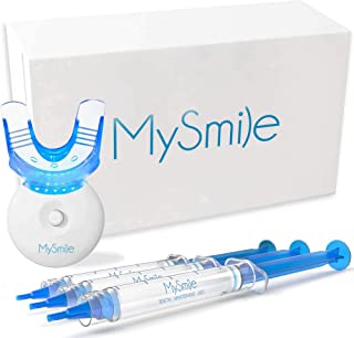 MySmile Teeth Whitening Kit with LED Light, 3 Non-Sensitive Teeth Whitening Gel and Tray, Deluxe 10 Min Fast-Result Carbam...
