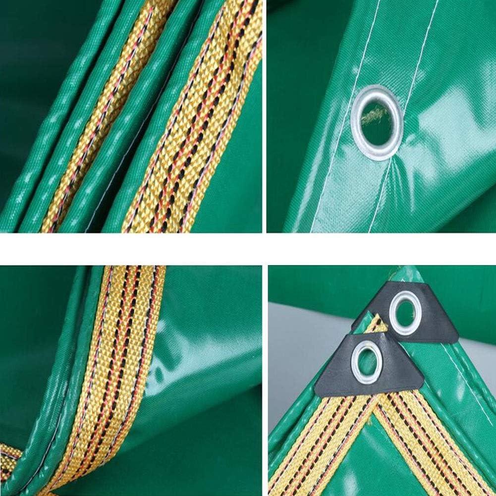 Color : Green, Size : 2x2m Zeltplanen CJC Draussen Regentuch Plane Dick Sonnencreme Segeltuch Markisentuch Wasserdicht Lastwagen PVC Beschichtet