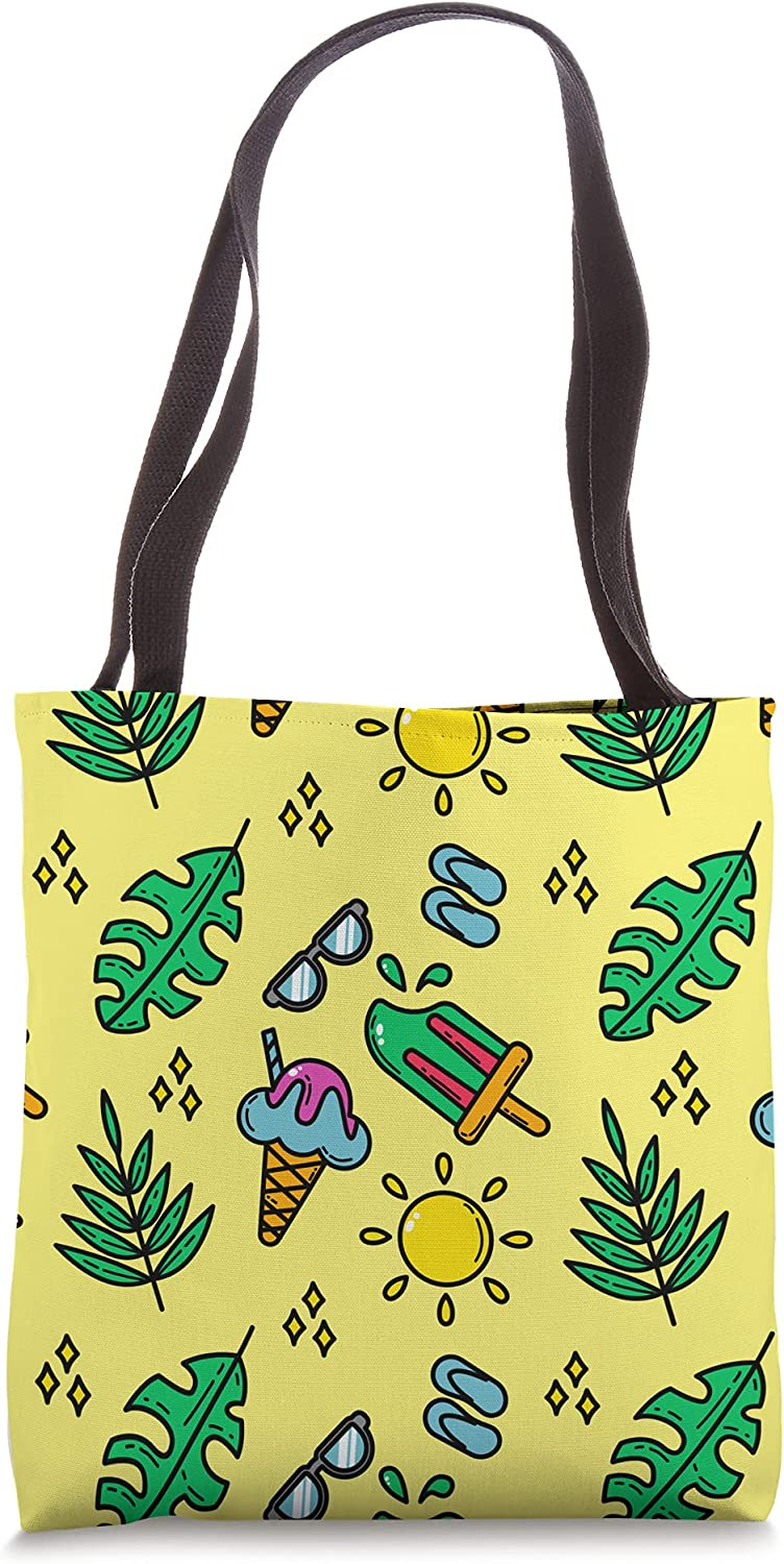 Summer beach pattern seamless sun and Ranking TOP7 Ba Tote with leaf icecream Weekly update