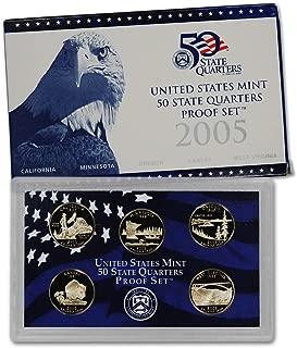 2005 S U.S. Mint Proof State Quarter Set - 5 Coins - OGP Original Government Packaging Superb Gem Uncirculated