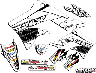 Compatible with Yamaha 2008-2019 TTR 110, Fly Racing White Graphics Kit