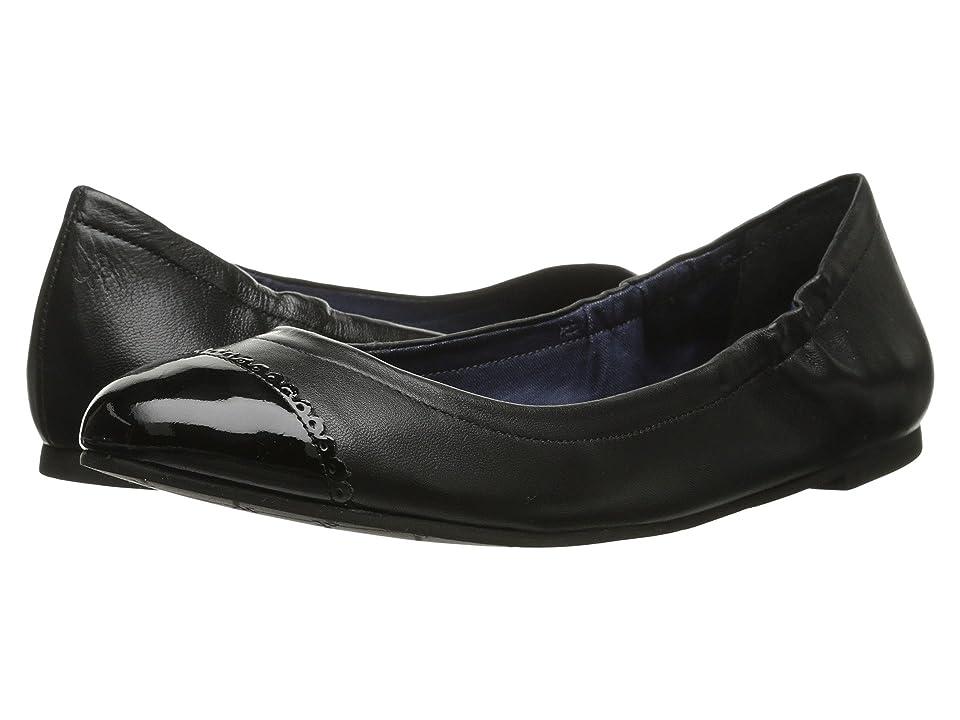Jack Rogers Bree Leather (Black/Black Patent) Women