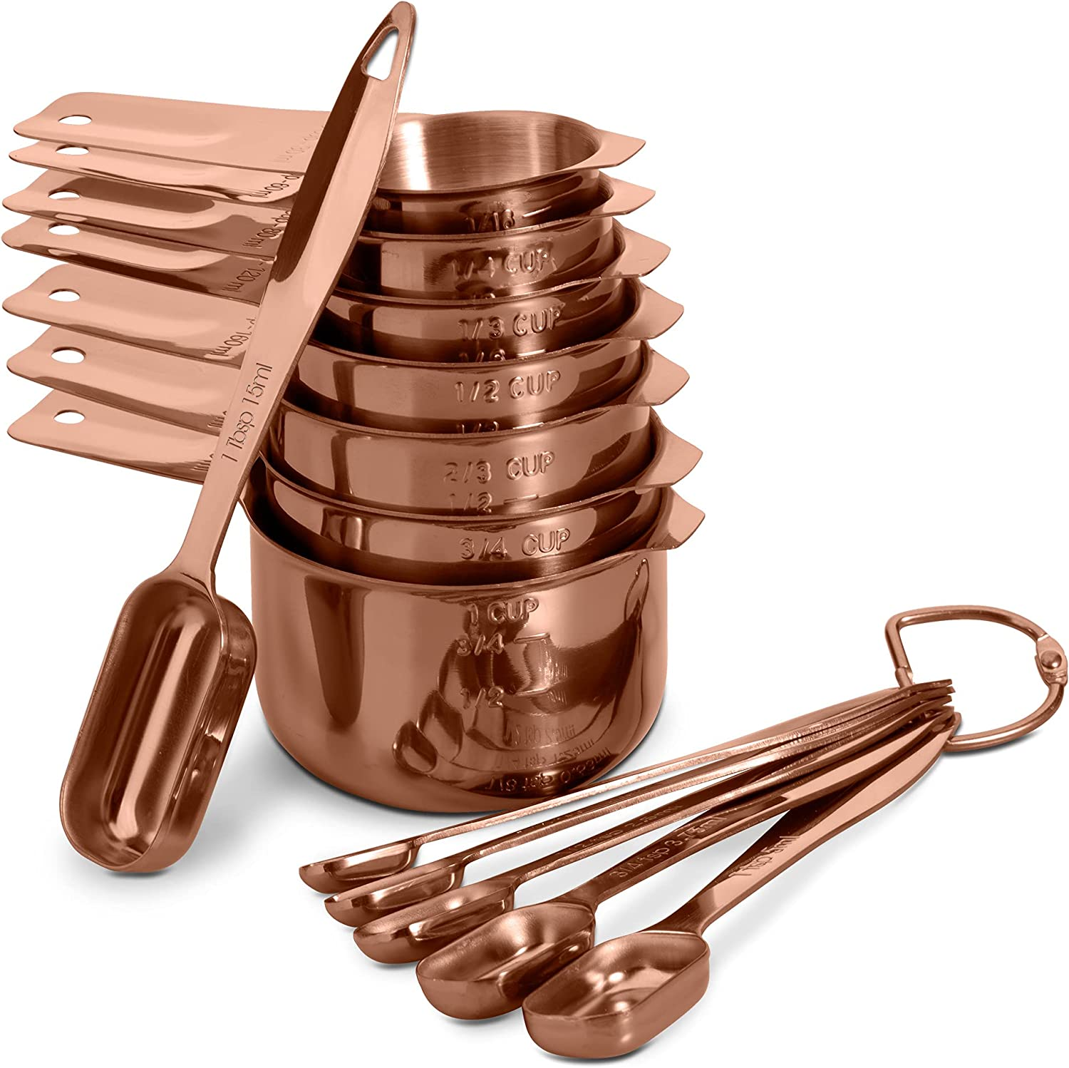 13-piece Measuring Cups and Spoons 5 ☆ very popular Under blast sales Set 18 Hea Steel 8 Stainless