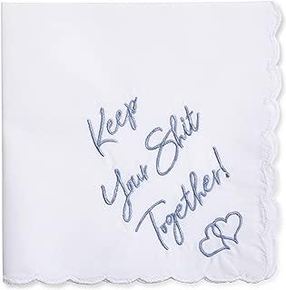 W&F GIFT Wedding Handkerchiefs | Embroidered Handkerchiefs | Fun Wedding Gifts