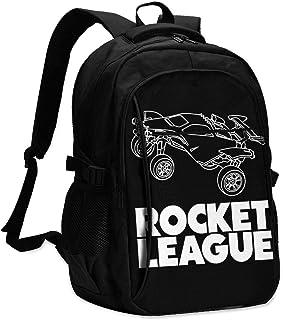 Mochila para portátil de Viaje, Rocket League Octane Mochila para portátil de Viaje Blanca Mochila Escolar Mochila para Exteriores con Puerto de Carga USB Mochilas antirrobo para Hombres y Mujeres