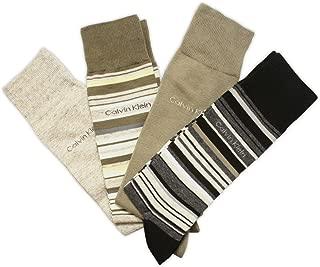 Calvin Klein Men's Multi Stripe Crew Socks - 4 Pack