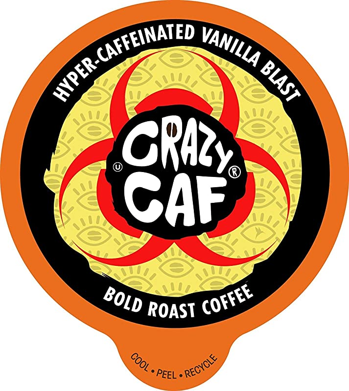 Crazy Cups Crazy Caf Vanilla Flavored Coffee Single Serve Cups For Keurig K Cup Brewer 22 Count