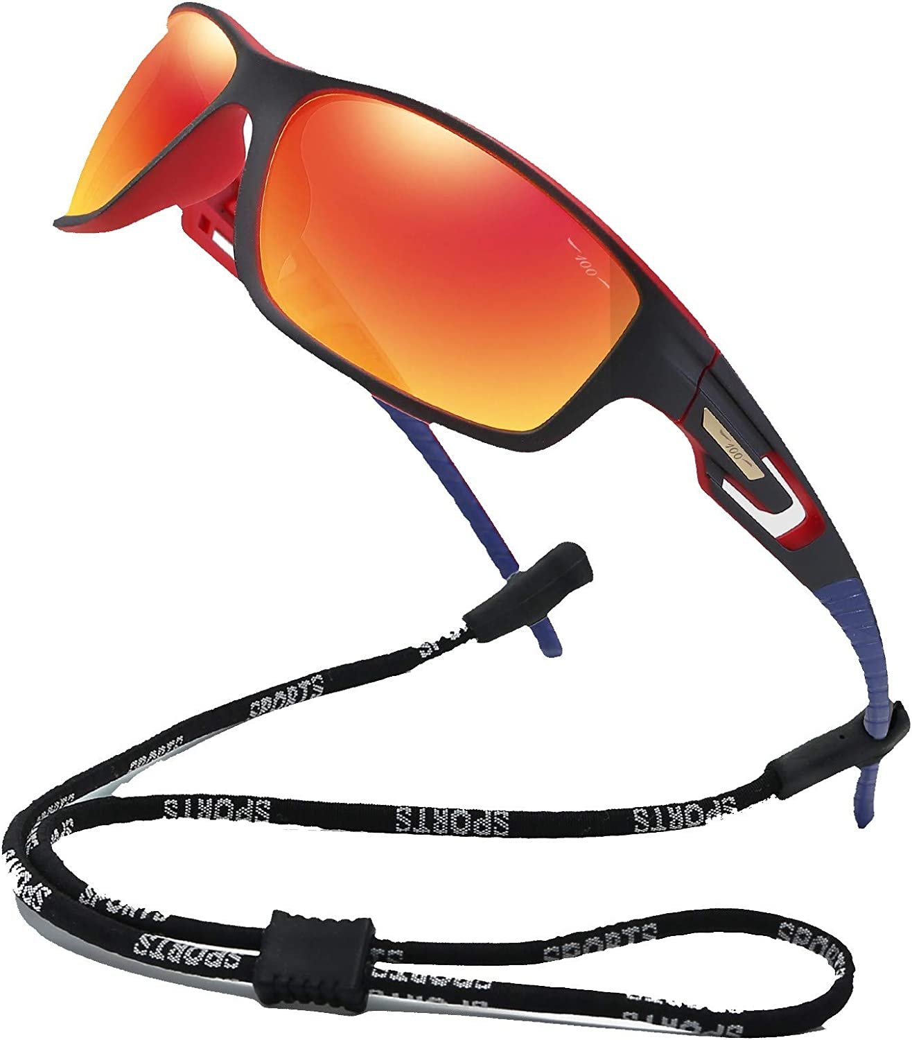 100 CLASSIC Sports Sunglasses Polarized Lens with TR90 Frame for Men Women
