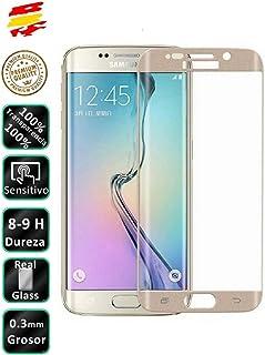 Movilrey Protector para Samsung Galaxy S6 Edge Plus Color Dorado Completo 3D Cristal Templado de Pantalla Vidrio Curvo para movil