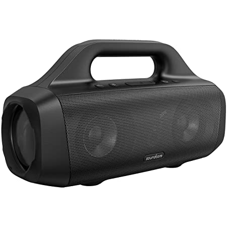 Anker Soundcore Motion Boom Outdoor Speaker with Titanium Drivers, BassUp Technology, IPX7 Waterproof, 24H Playtime, Soundcore App, Built-in Handle, Portable Bluetooth Speaker for Outdoors, Camping