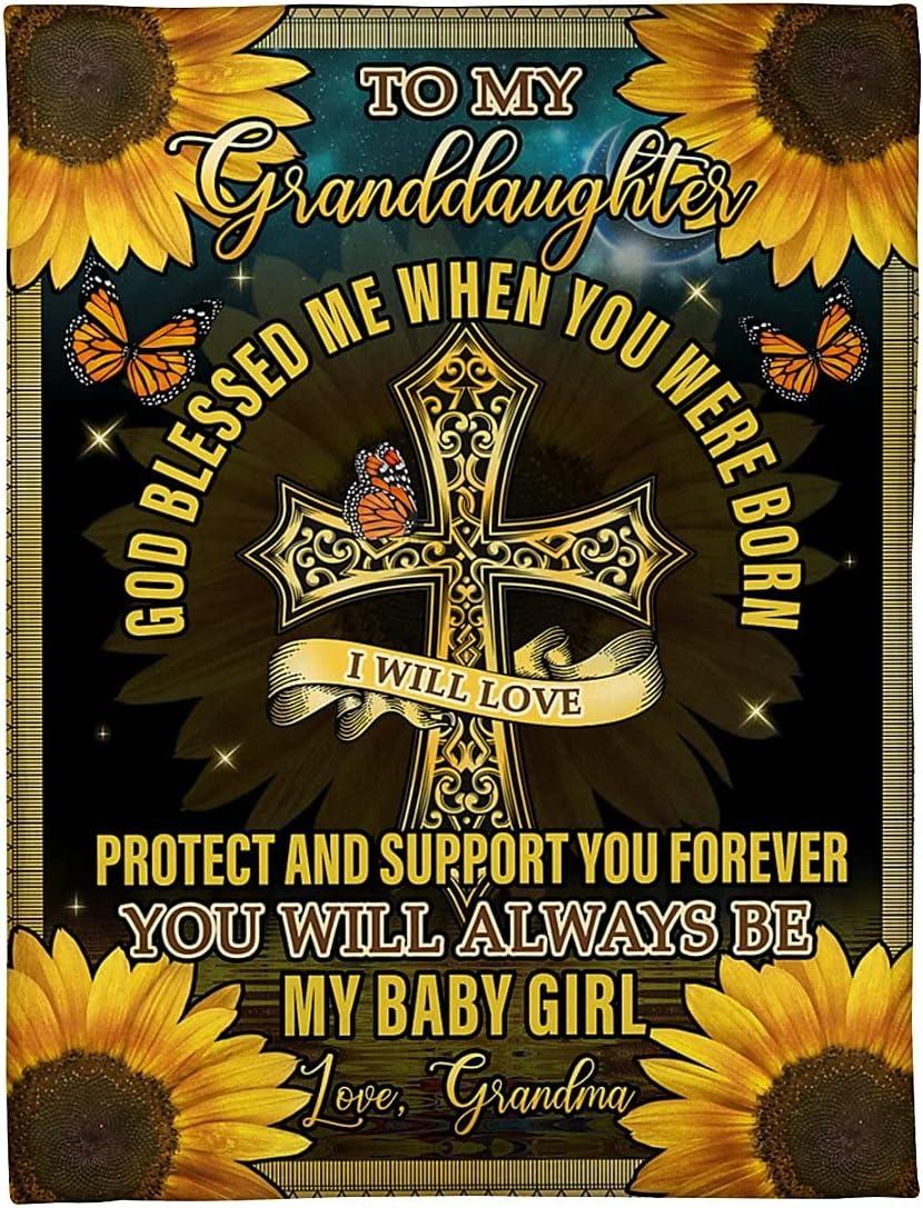 Sunflower Blanket latest for Granddaughter from God Blessed Denver Mall Grandma Cr