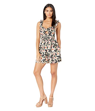 Rebecca Taylor Sleeveless Kamea Romper (Black Combo) Women