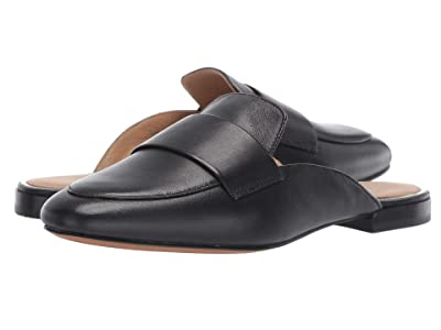 LINEA Paolo Annie Slip-On Mule (Black Polished Calf) Women