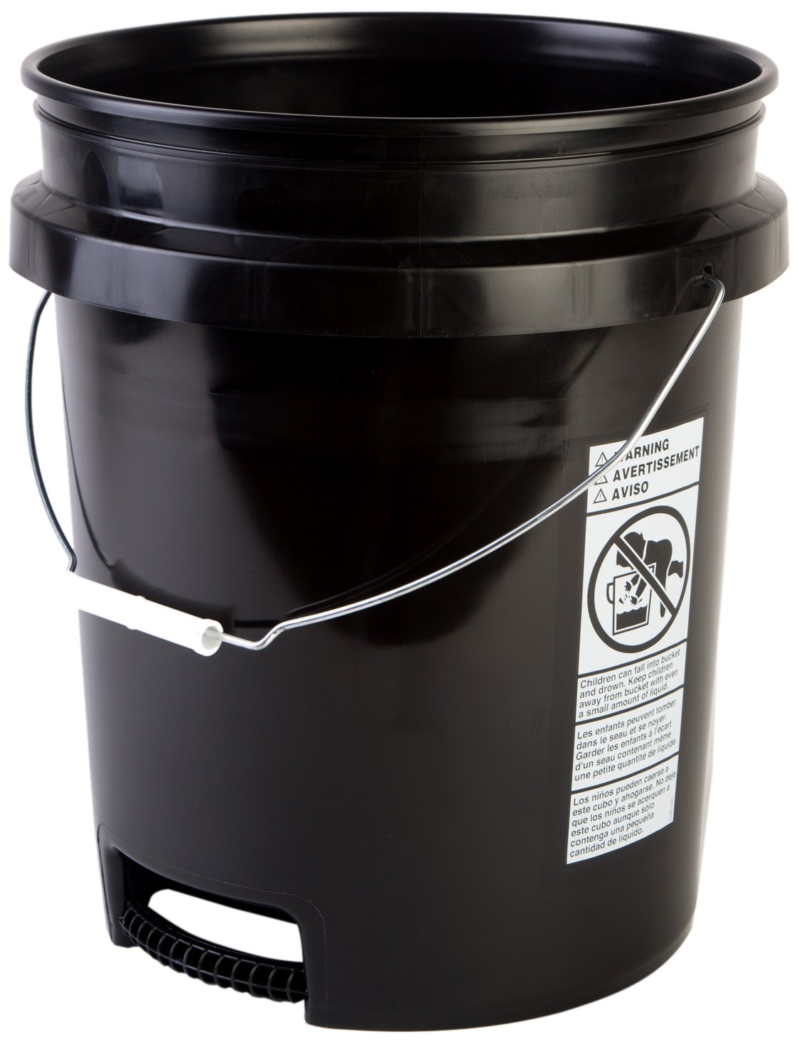 HDPE 6 Pack Hudson Exchange Premium 5 Gallon Bucket with White Lid Yellow