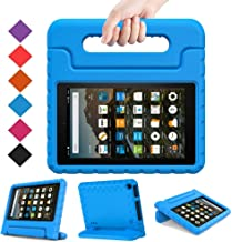 BMOUO Kids Case for Amazon All New Fire 7 2019 (9th Generation, 2019 Release) - Light Weight Shock Proof Convertible Handle Stand Kids Case for Fire 7 Tablet (9th Gen, 2019 Release), Blue