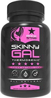Skinny Gal Weight Loss Pills for Women, Diet Pills by Rockstar, Thermogenic Fat Burner, 60 Veggie Caps