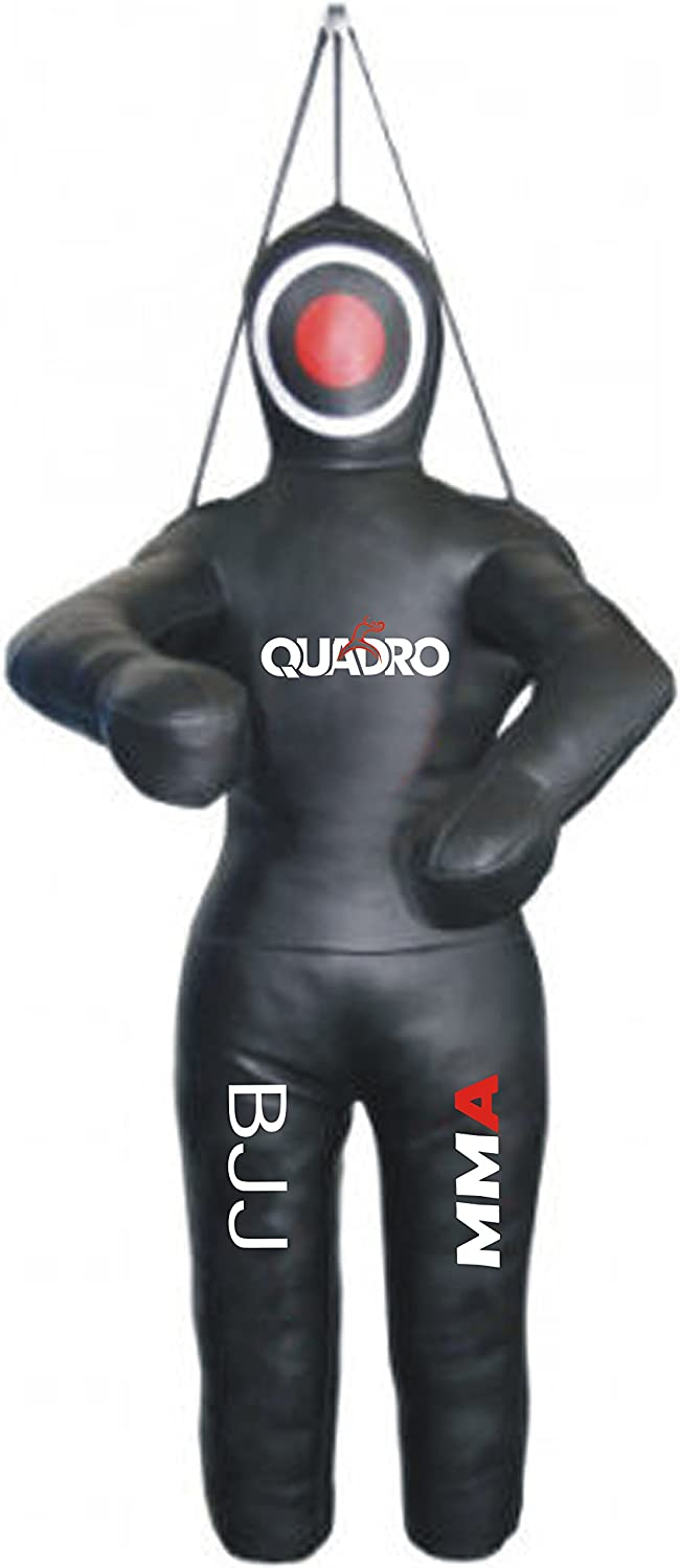 Unfilled QUADRO-MMA Grappling Dummy Jiu Jitsu Round Punching Bag with Arms
