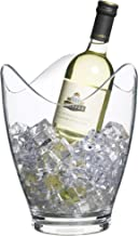 BarCraft Wine Cooler Bucket, 1 Bottle Design with Wavy Edge, 10 L