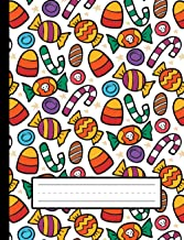 Candy Corn, Cute Candies - Halloween Primary Story Journal To Write And Draw For Grades K-2 Kids: Standard Size, Dotted Mi...