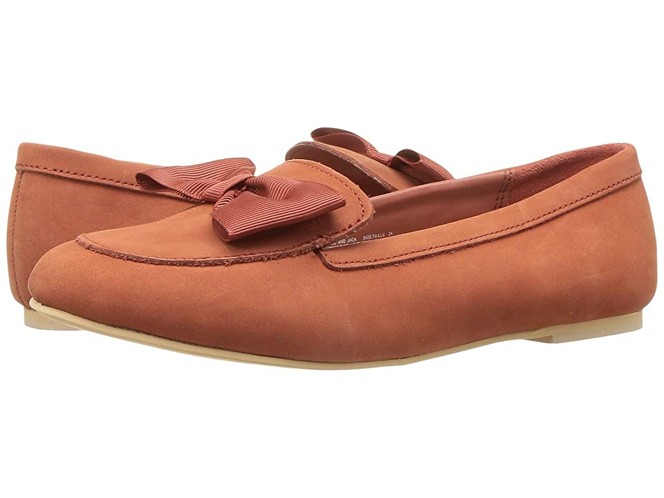 Janie and Jack Bow Loafer Flat (Toddler/Little Kid/Big Kid) (Brown) Girls Shoes