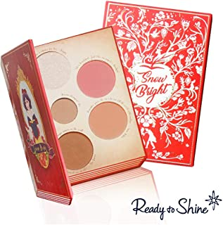 Snow Bright Contour and Highlight Palette - Vegan and Cruelty Free - 5 Part Contour Blush and Highlight Pressed Powder Makeup Kit - For All Skin Types - Moisturizing Jojoba Oil & Vitamin E