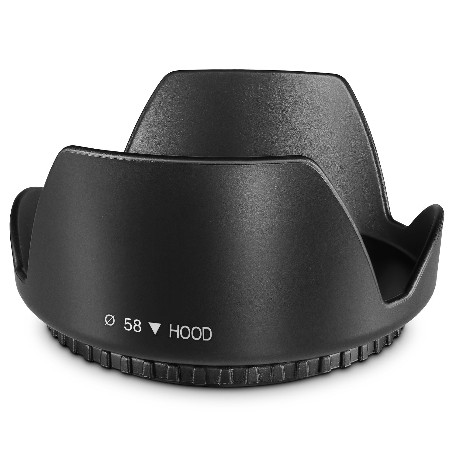 58MM Tulip Flower Lens Hood for Canon EOS 77D 80D 90D Rebel T8i T7 T7i T6i T6s T6 SL2 SL3 DSLR Cameras with Canon EF-S 18-55mm f/3.5-5.6 is Lens and Select Nikon Lenses