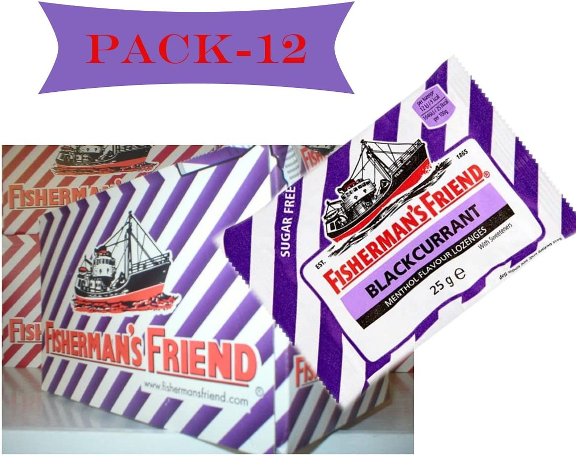 Fishermans Friend Selling rankings Blackcurrant Flavour Lozenges famous Sweeteners with