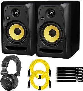 "KRK CL5G3 5"" Bi-Amp Powered Active Studio Monitor Speakers Pair w XLR Cables"