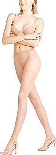 FALKE Strumpfhose Shelina Toeless 12 Denier Damen hautfarbe verstärkte Feinstrumpfhose ohne Muster transparent reißfest zehenfrei und glänzend 1 Stück