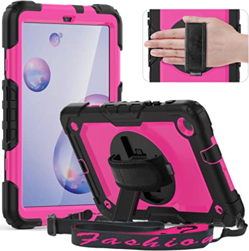 "Timecity Case Compatible with Samsung Galaxy Tab A 8.4"" 2020/ SM-T307, with Built-in Screen Protector&360 Degree Swiv..."