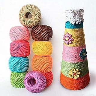11 colores cordel de yute, colorido hilo de yute natural, Cuerda de cordel natural, cuerda de cordel para Obras de Arte, Decoración, Regalos, Paquetes, Artesanía de Bricolaje, Jardín Deco