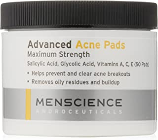 MenScience Androceuticals Advanced Acne Pads, 50 Pads
