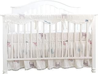 Sahaler Crib Rail Cover, Crib Protector from Chewing, Crib Rail Teething Guard, Crib Wrap for Nursery Baby Crib - Long Rail Cover x 1 -Trojan Horse