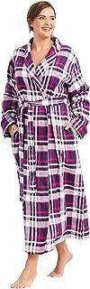Women's Plus Size Long Flannel Robe