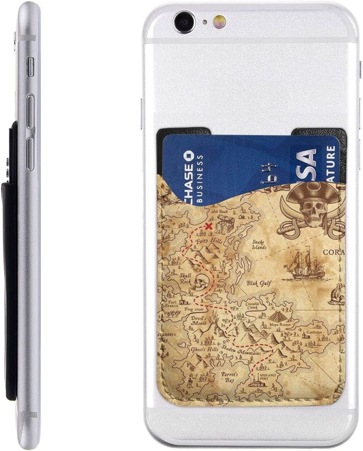 Treasure Map Popular brand in the 5 popular world Vintage Phone Card Cell On Stick Holder