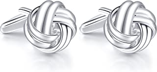 HONEY BEAR Knot Cufflinks - Stainless Steel for Men's Shirt Wedding Business Gift