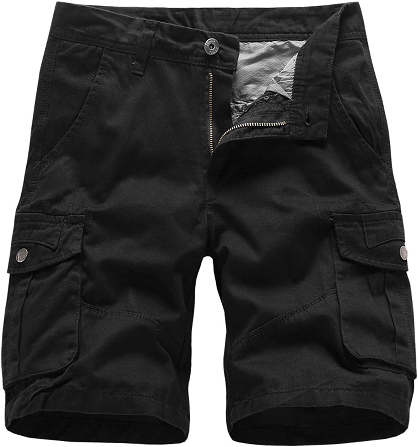 YYCHUN Men's Multi-Pockets Cargo Shorts Camo Relaxed Fit Casual Tactical Shorts Flat Front Outdoor Lightweight Work Shorts