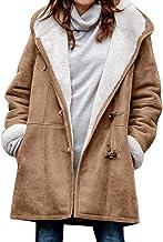 KUYG Dames hoodie sweatshirt gothic winter warme jassen verdikt lange jassen met hoorn button cardigan windbreaker